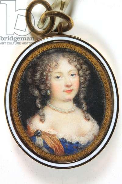 Elisabeth-Charlotte de Baviere, Duchesse D'Orleans (enamel)