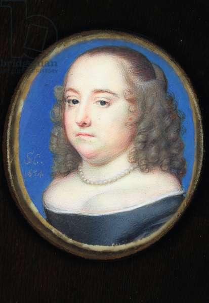Anne Pile, Lady Holles, 1654 (w/c on vellum)