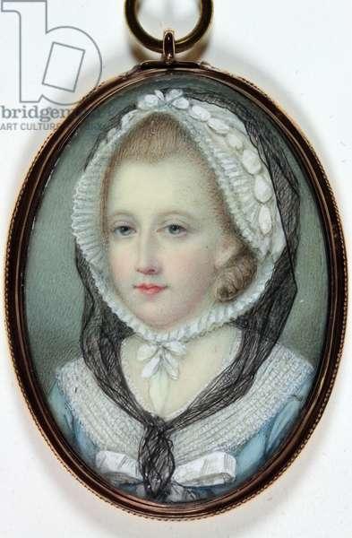 Elizabeth Gunning, Duchess of Hamilton and Duchess of Argyll (enamel)