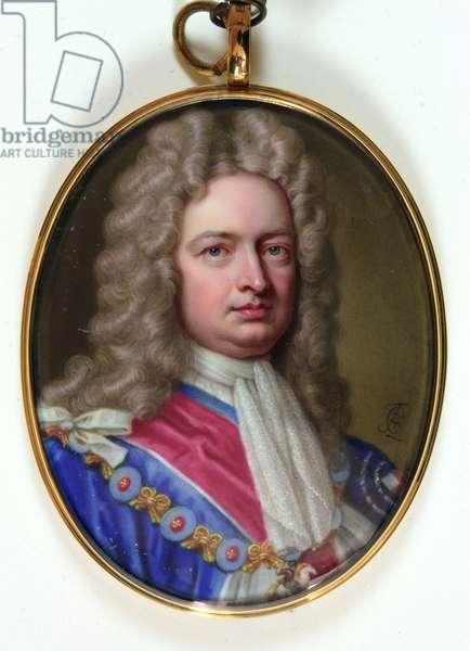 Robert Harley 1st Earl of Oxford and Mortimer, 1716 (enamel)