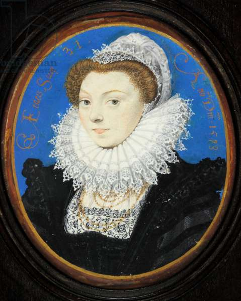 Unknown Woman with a Lace Cap, 1573 (w/c & bodycolour on vellum)