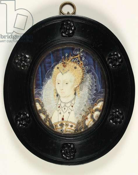 Queen Elizabeth I (w/c on ivory)