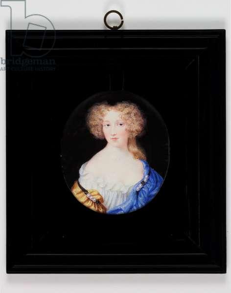 Lady Margaret Cavendish, afterwards Duchess Of Newcastle (w/c on ivory)