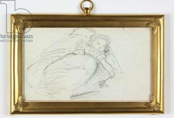 William John Arthur Charles James Cavendish Bentinck (pencil on paper)