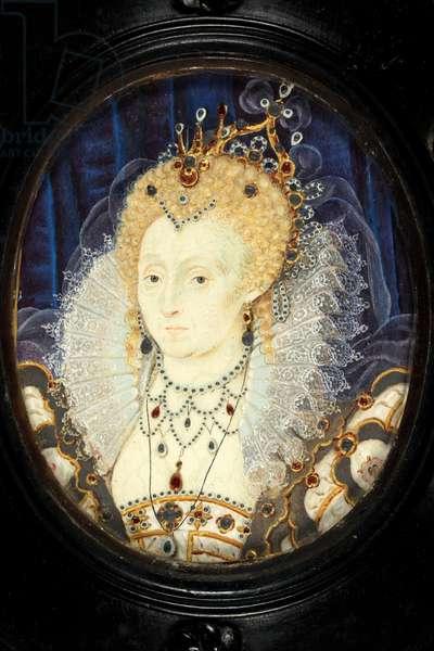 Queen Elizabeth I, c.1590 (w/c on vellum)
