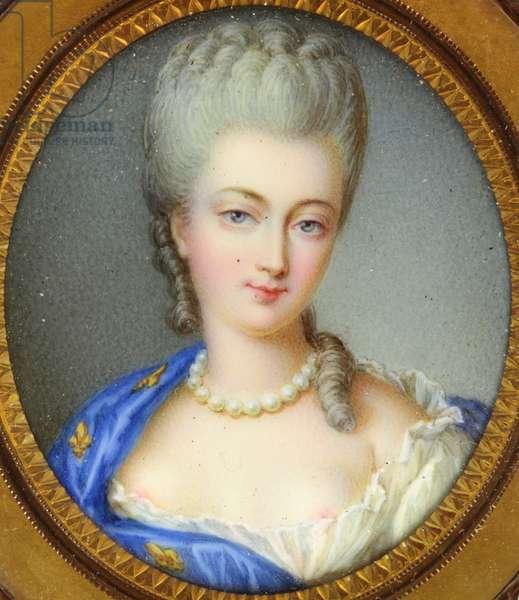A Bourbon princess, called Marie-Louise-Elisabeth d'Orleans, Duchesse de Berry (enamel)