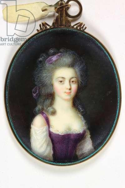 A young lady (enamel)