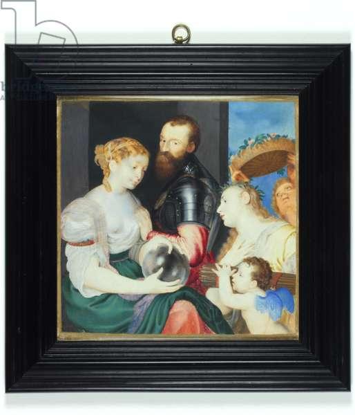 Allegory in honour of Alfonso d'Avalos, Marquis del Vasto, 1650 (enamel)