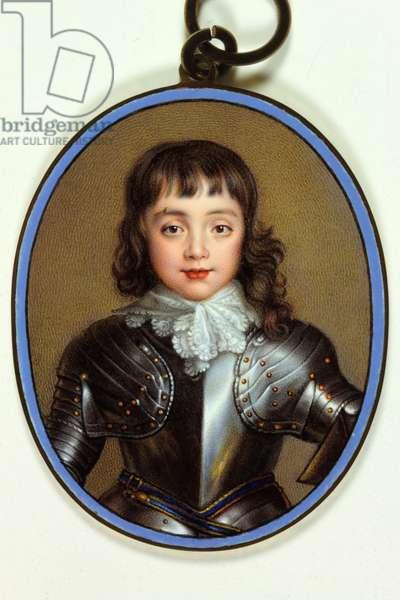 Charles, Prince Of Wales, Later Charles II, 1638 (enamel)