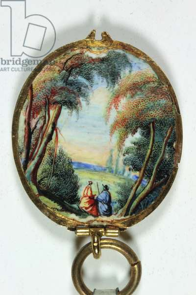 Frame for a miniature portrait of Louis XIV as a child (enamel) (see also 3076235)