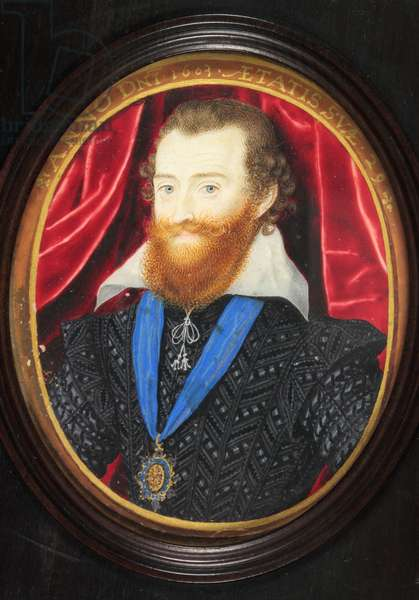 Ludovick Stuart, 2nd Duke of Lennox and Richmond (enamel)