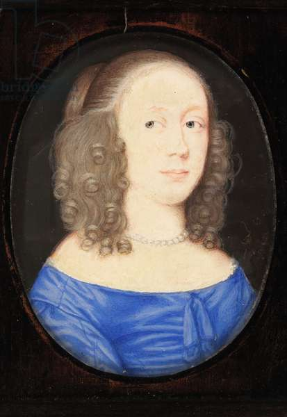 A Lady called Elizabeth Vere, Countess of Clare, 1653 (w/c on vellum)