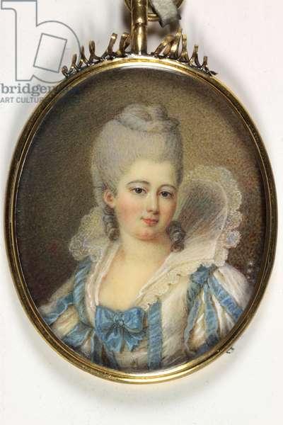 A French lady (enamel)