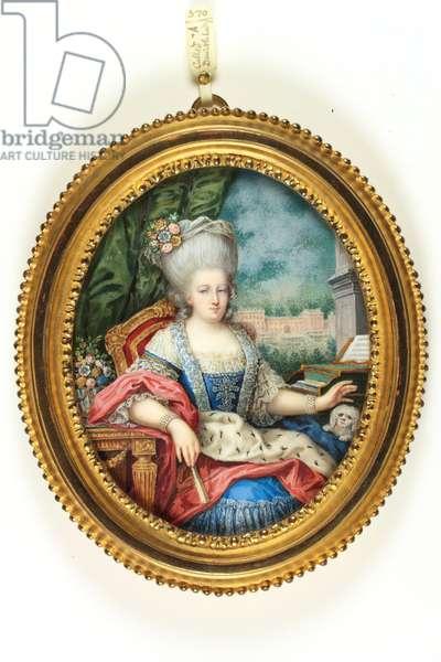 A Danish lady (enamel)