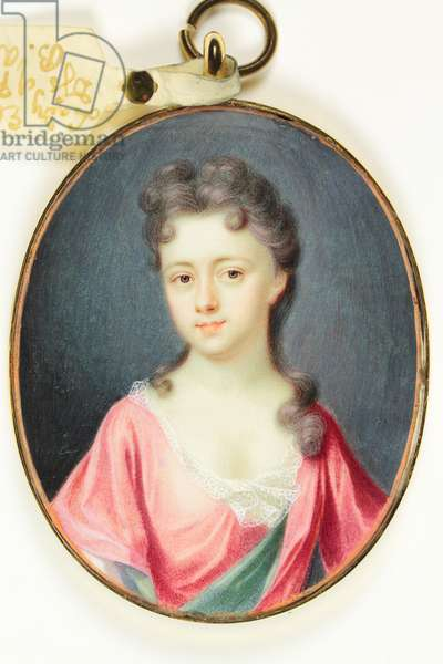 Lady Elizabeth Noel, Duchess of Portland, 1709 (w/c on ivory)