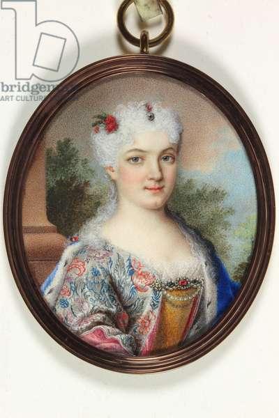A lady called Marie Leczinska (enamel)