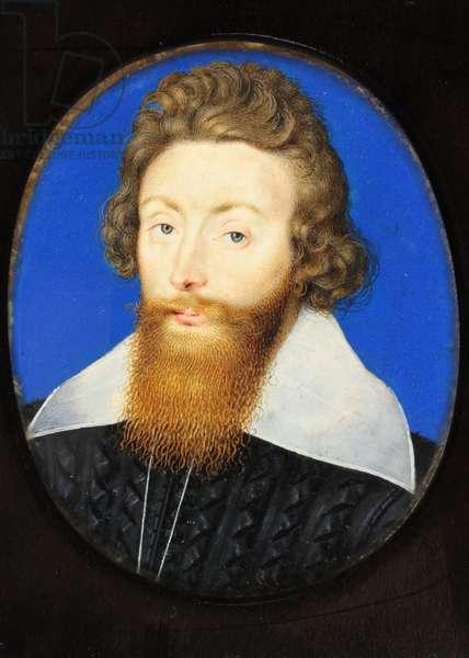 Sir Richard Liveson (Leveson), Vice Admiral of England (w/c on vellum)