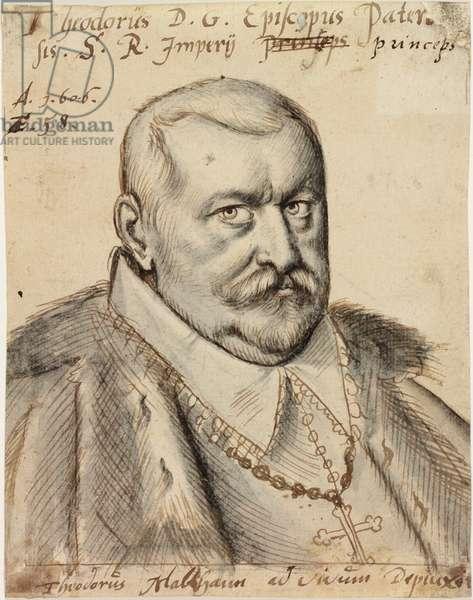Theodore de Fürstenberg, Bishop of Paderborn, 1606 (pen & ink and wash on paper)