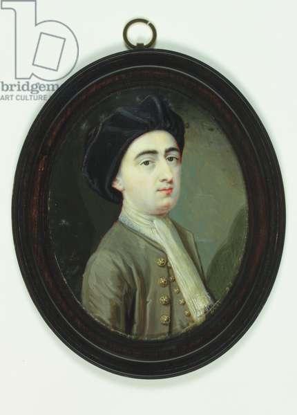 Self portrait, 1718 (w/c on ivory)