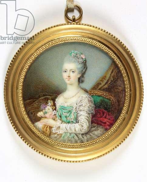 A lady called Marie-Therese de Savoie Comtesse d'Artois (enamel)