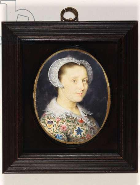 Elizabeth Harding, Mrs Isaac Oliver (w/c on vellum)
