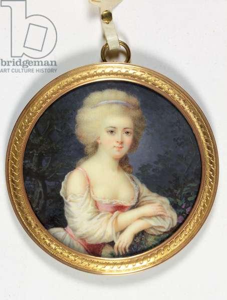 A lady called Mademoiselle de Gramont (enamel)