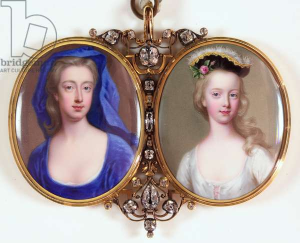 Lady Henrietta Cavendish Holles Harley and her daughter Margaret (enamel) (see also 3076141)