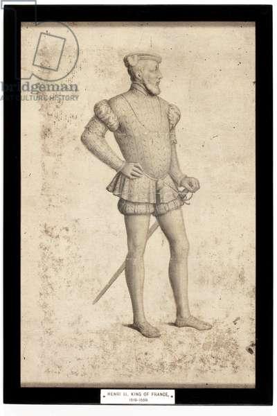 Henri II, King of France (pencil & w/c on paper)