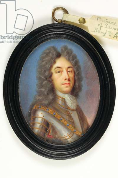 Prince Eugene Of Savoy (w/c on ivory)