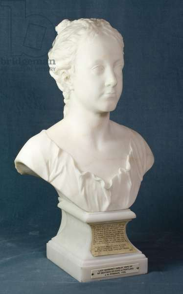 Bust of Margaret Cavendish, later Duchess of Portland, c.1723 (marble)