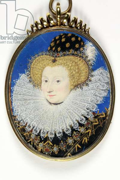 A lady traditionally identified as Anne, Lady Hunsdon (w/c & bodycolour on vellum)