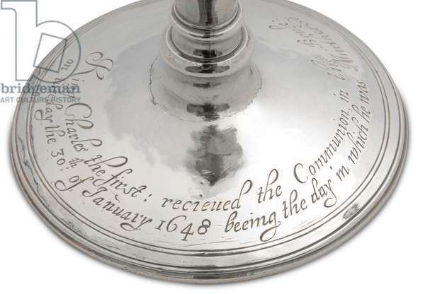 Silver communion cup, used as a chalice for King Charles I's last communion, 1630 (silver)