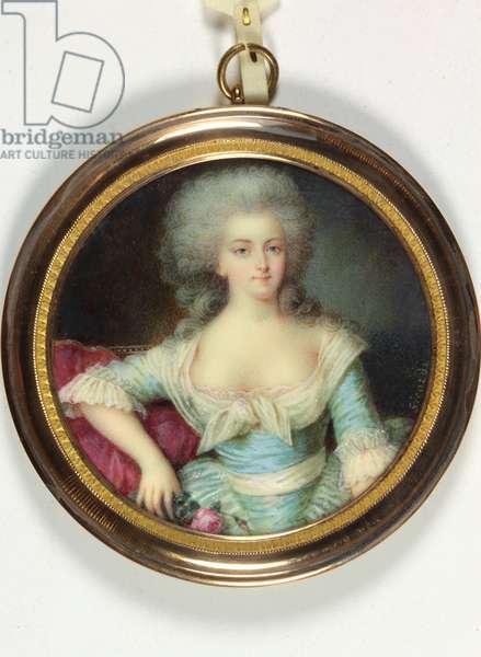 A lady called Madame Elisabeth de France (enamel)
