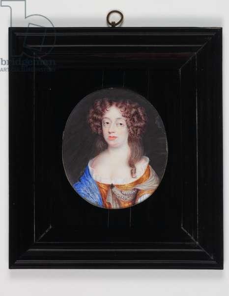 Frances Pierrepont, Duchess of Newcastle (w/c on ivory)