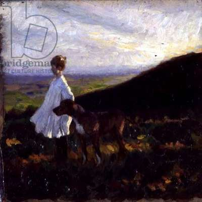 Barry on Pitch Hill, c.1912 (oil on canvas)