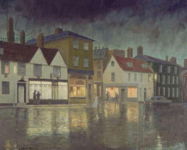 Angel Hill, Bury St. Edmunds, 1962 (oil on canvas)