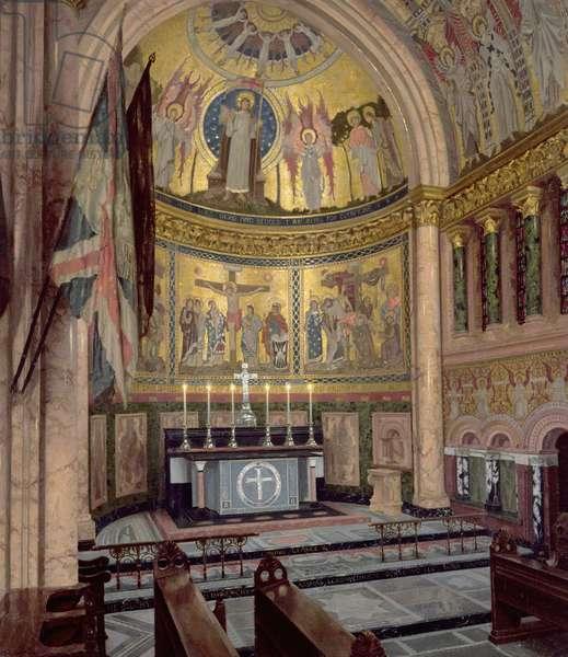 The Guards' Chapel, Wellington Barracks, 1942 (oil on canvas)
