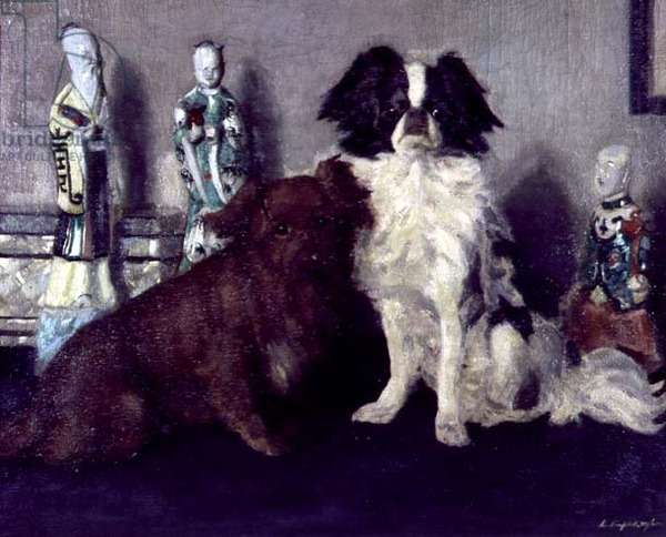 Anne and Jane, Two Dogs, 1913 (oil on canvas)