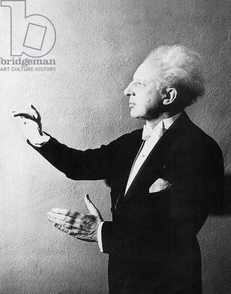 Leopold Stokowski - portrait of British organist, conductor