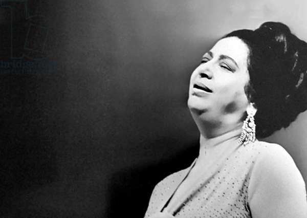 Oum Kalthoum, Egyptian singer, songwriter and actress, 30 December 1898 - 3 February 1975