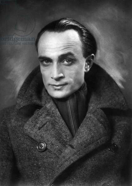 Conrad Veidt, German actor, best remembered for his roles in films such as The Cabinet of Dr