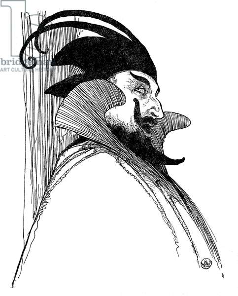 Norman Allin as Mephistopheles, 1923 illustration by Arthur Wragg (3 January 1903 - 17 August 1976)
