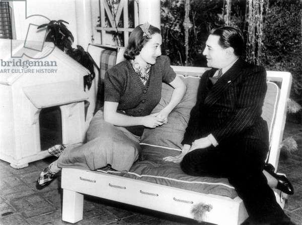 Joan Crawford, American film star & Tito Schipa, Italian tenor 1936