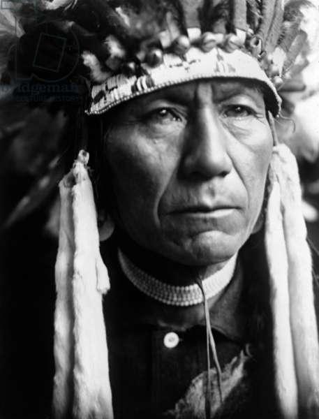 A Nez Perce indian, c. 1910, photo Edward S. Curtis