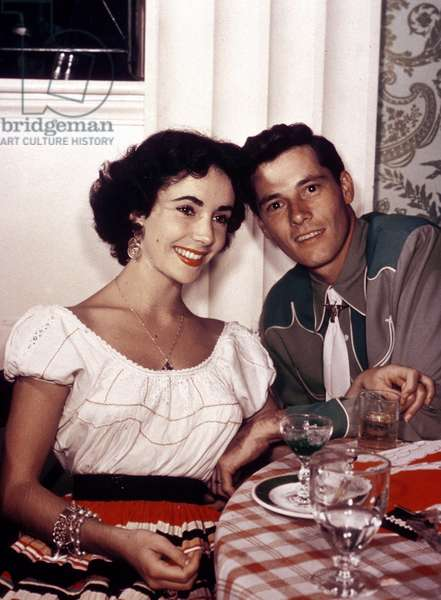 Liz Taylor and first husband Nicholas