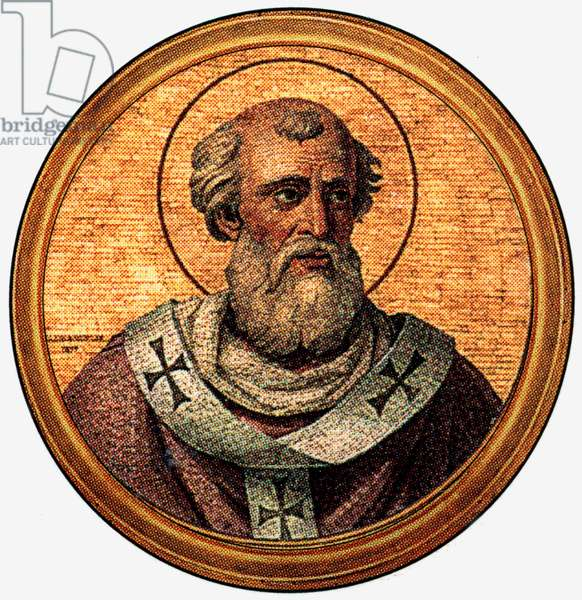 POPE FELIX IV / III (number depends on whether anti-pope Felix I is regarded as a true pope), pope in 526-530, after a medalion of the Basilica of Saint Paul Outside the Walls (-Rome)