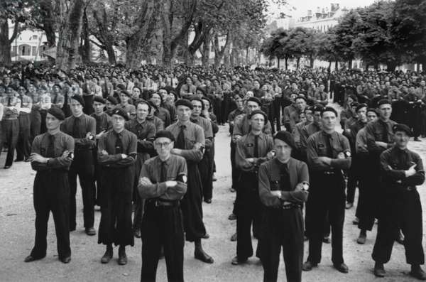French militia (Milice) in Annecy, recruited by the Vichy government to fight against the resistance in 1944
