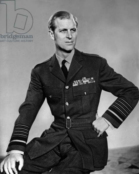 Philip Mountbatten (b1921) duke of Edinburgh, wearing his uniform of Field Marshal of the Royal Air Force, 1953