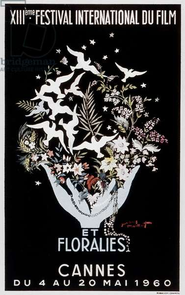 Poster for 13th International Film Festival in Cannes, 1960 (colour litho)