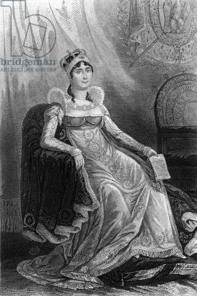 Josephine de Beauharnais (1763-1814) french empress wife of Napoleon1st (civil wedding in 1796-1809 religious wedding in 1804-1810) engraving